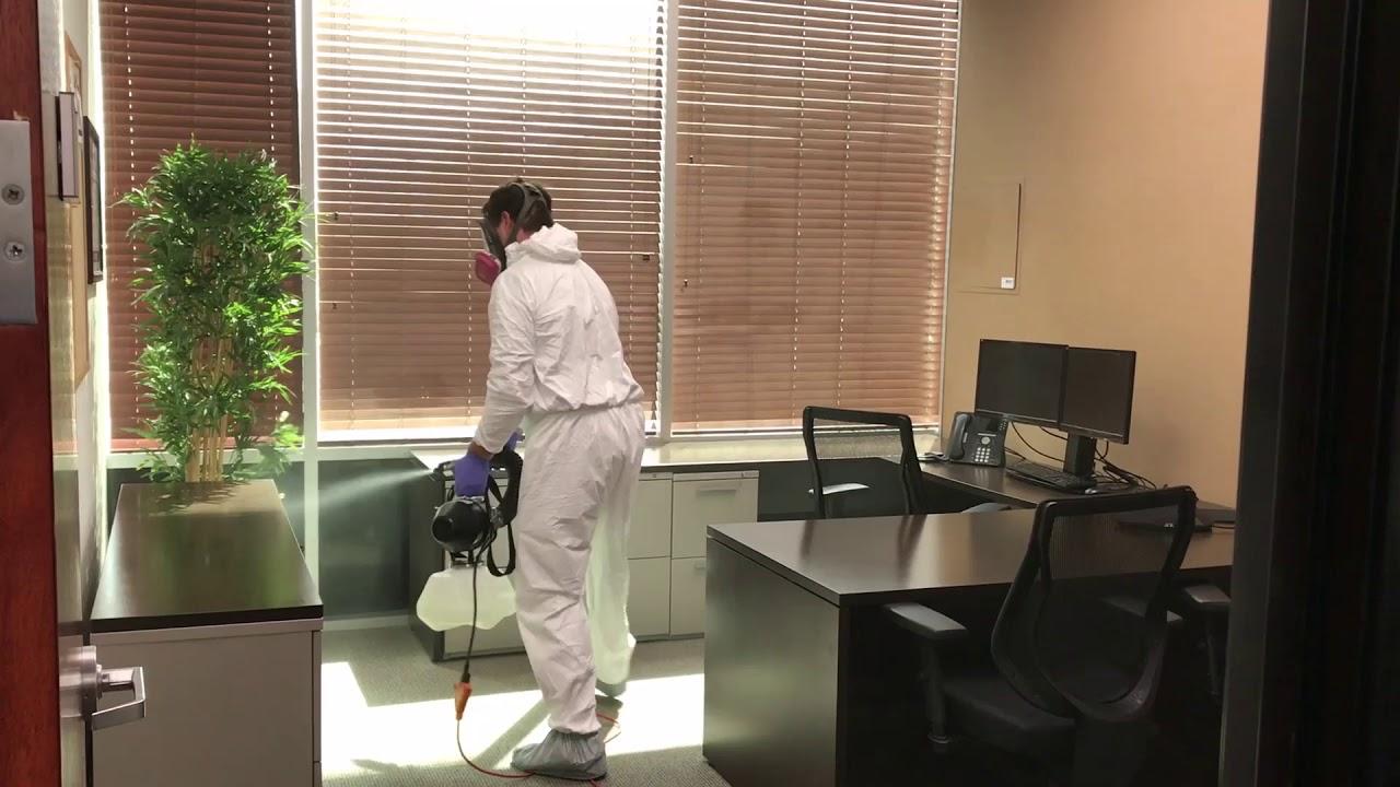 Coronavirus Covid-19 protection, deep cleaning, bio-fogging